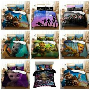 GROOT Bedding Set Guardians of the Galaxy Quilt Duvet Cover 2Pcs Single Size UK