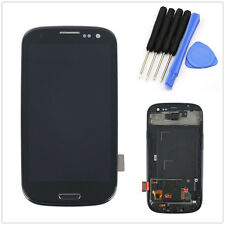 For Samsung Galaxy S3 I9300 LCD Display Digitizer Touch Screen Frame SIII Black