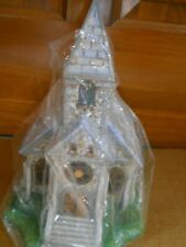 New PartyLite The Church Olde World Village Tealight House Ceramic P7321