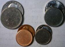 BLANK Quarter Roosevelt Dime Nickel & Cent UNstruck Planchet ERROR 4 Coin LOT NR