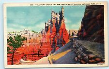 Gullivers Castle New Trails Bryce Canyon National Park Utah Vintage Postcard C55