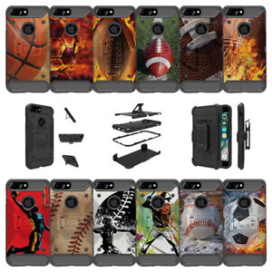 """For Apple iPhone 7 Plus (5.5"""") Shockproof Dual Layer Stand Case - Sports Designs"""