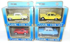 ERTL CLASSIC VEHICLES Lot of 4 ~ 1/43 Die Cast ~ CHEVY/FERRARI & MORE ~NIB~T197D