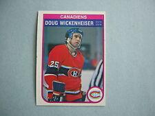 1982/83 O-PEE-CHEE NHL HOCKEY CARD #196 DOUG WICKENHEISER NM SHARP!! 82/83 OPC
