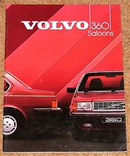 1984 VOLVO 360 SALOONS UK Launch Brochure & Price List - 360 GLE & Injection