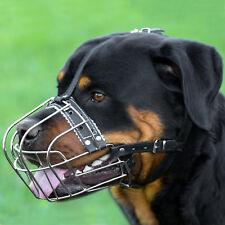 Rottweiler Wire Basket Dog Muzzle Adjustable Leather Straps Mastino Bullmastiff