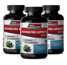 Advanced Antioxidant  - Resveratrol Supreme 1200mg - Metabolism Booster 3B