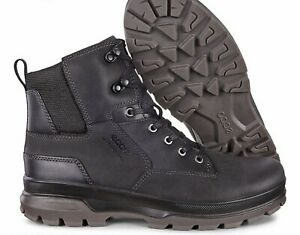 Ecco Rugged Track Leather Men's High Top Sneakers Shoes Boots UK 7 EU 41