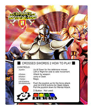 Crossed Swords II (2) Neo Geo Arcade Marquee