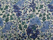 Liberty of London Tana Lawn Fabric 'Edna D' 3 METRES x 136cm Blue/Green