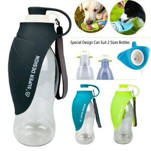580mL Puppy Dog Cat Pet Water Bottle Cup Drinking Outdoor Travel Portable Feeder