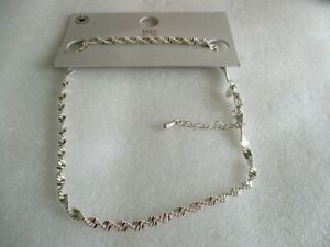 NEW M & S SILVER PLATED TWISTED CHAIN   NECKLACE