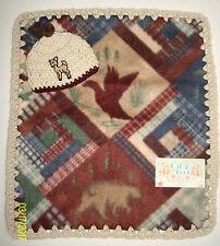 """Preemie Boys Baby Feet 16x14""""Outdoor Baby Fleece & Crochet Blanket/Hat Set"""