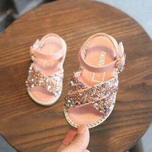 Rhinestone Princess Sandals 1-3 Years Old Baby Girls Shoes Summer Toddler