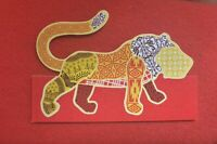 2011 WOMADELAIDE SOUNDS OF THE PLANET  CUT OUT LION PROMO CARD 9X 15CM
