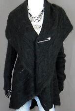 Knielange Damenjacken & -mäntel aus Wolle ohne Muster mit Knöpfen