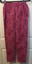 Diane Gilman Pink Floral Pattern Stretch Jeans M