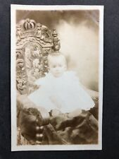 Vintage Postcard: RP Anon. People #B250: Baby In Ornate Chair