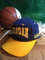 Rare vintage fitted 7 1/8 Michigan Wolverines hat cap top of the world h52