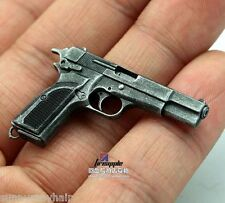 "Browning MK3 Pistol Gun Weapon Model Hi-Power 1/6 Scale F 12"" Male Action Figure"