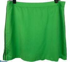 EP PRO Kelly Green Golf Skort Skirt Navy Piping Polyester Microfiber Size 12