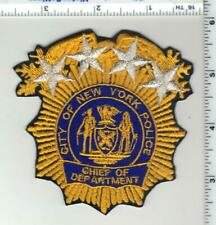 New York City Police Chief of Department Large Patch  - new for 2020