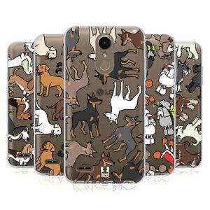 HEAD CASE DESIGNS DOG BREED PATTERNS 2 SOFT GEL CASE & WALLPAPER FOR LG PHONES 1