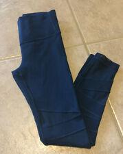 EUC Ivivva (Lululemon For Girls) Size 6 Rhythmic Mesh Tight Legging Blue