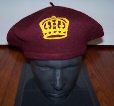 Original WW2/WW1 British/Canadian Army Kings Crown Maroon Beret