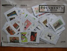 Lot de 100 timbres récents sur fragment
