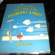 (1937) SEUSS-AND TO THINK THAT I SAW IT ON MULBERRY STREET-18TH PRINT~2.95 PRICE