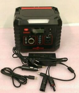 Rockpals Portable Generator (330W, 78000mAh) w/ Power Cord/Adapter -Used-