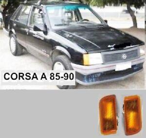 OPEL CORSA A MODEL 1985 90 FRONT CORNER TURN LIGHTS PAIR LH RH NEW AFTERMARKET