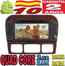 ANDROID 10 MERCEDES  S W220 S280 S320 S350 S400 S430 S500 GPS DVD RADIO COCHE SD
