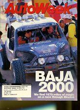 AutoWeek Magazine December 11, 2000 Baja 2000, Ford Focus ZX3, Volvo S80 T6