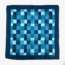 Oroton! Vintage 1970s Oroton blue checkerboard scarf with original packaging