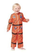 Toddler ASTRONAUT Halloween Costume Jumpsuit 2T-3T ORANGE School Play NEW