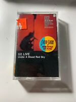 U2 - Under A Blood Red Sky (live) -cassette tape album, paper labels,pre-barcode