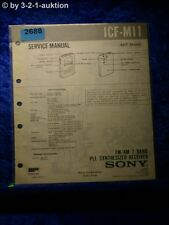 Sony service manual ICF m11 (#2688)