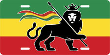 RASTA LION KING LICENSE PLATE