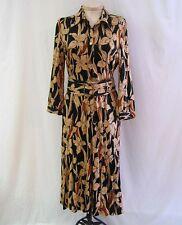 ETCETERA BLACK BEIGE TAN STRETCHY SHIRT DRESS JONI size 8 NEW $275