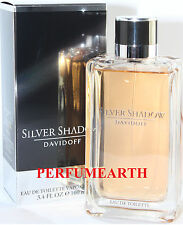 SILVER SHADOW 3.4/3.3 OZ EDT SPRAY FOR MEN NEW IN A BOX BY DAVIDOFF