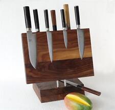 Messerblock Messerleiste magnetisch, aus  Walnussholz am. Juglans nigra