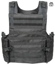 VOODOO TACTICAL ARMOR PLATE CARRIER VEST WITH MOLLE WEBBING 20-8399 / BLACK- NEW