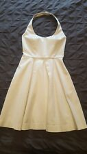 Marciano White Pleated Halter Dress W/ Pockets Size 0