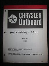 1979 Chrysler Outboard 85 HP Parts Catalog Manual 857H9G 857B9G