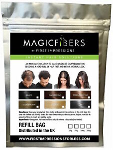 MAGIC Hair Fibers refill bag - Hair Loss Thickening Fibres Keratin 25/50/100g