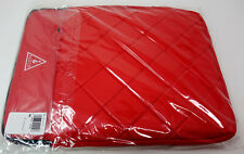 New Guess Women's Quilted Red Laptop Sleeve Case