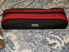 New With Tags   TUMI Cord Pouch  Red/Black Long Cord Pouch