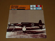 DORNIER Do 335 PFEIL 1943-1945 CHASSE LUFTWAFFE AVIATION FICHE WW2 39-45